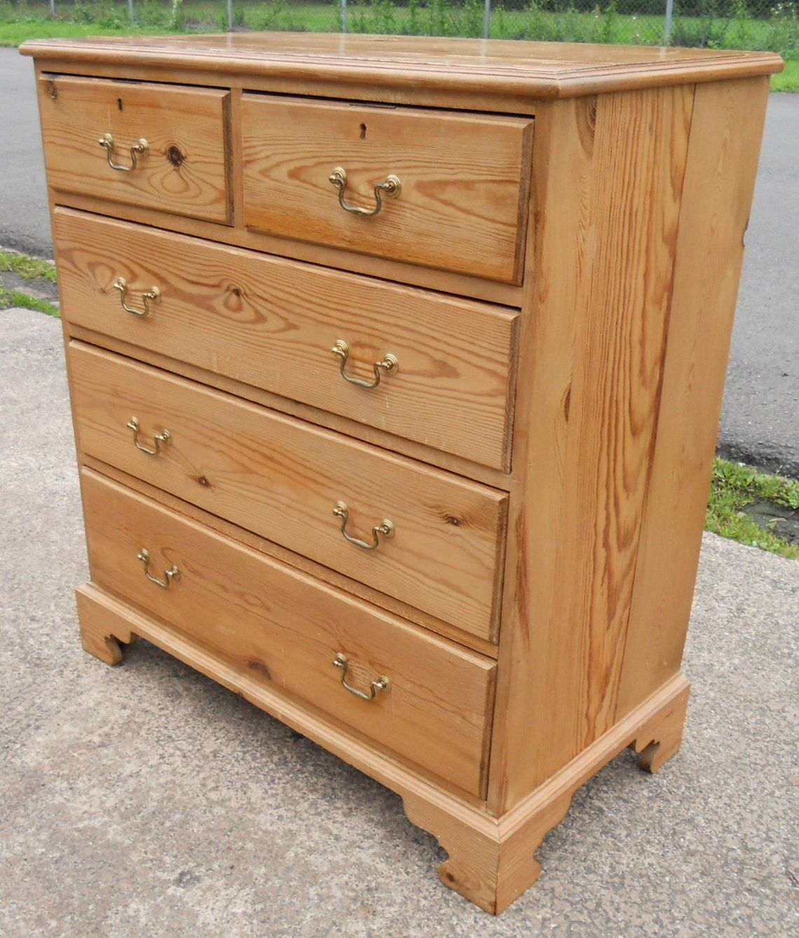 Sold Pine Chest Of Drawers In Antique Georgian Style